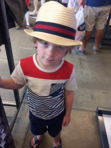 My little and I shopping for Fathers Day gear for Daddy- 6/15
