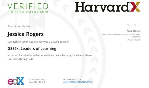 HarvardX Cert